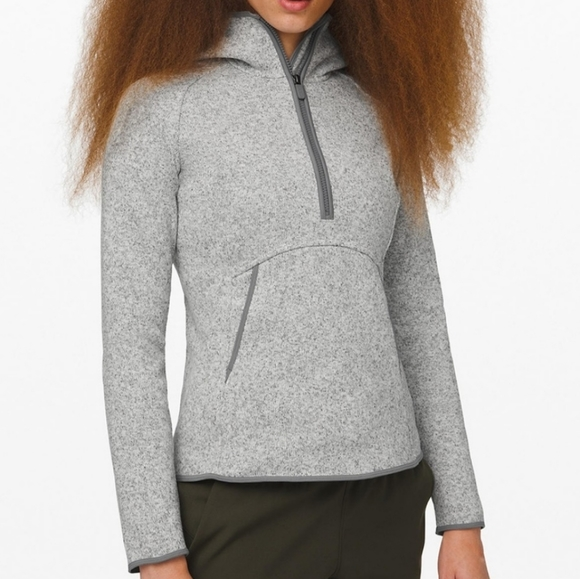 lululemon athletica Tops - Lululemon Fleece and Thank you Pullover hoodie